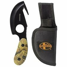 """6-3/4"""" Skinning Gut Hook Knife Sheath Fixed Blade Bowie Hunting Skinner Cleaning"""