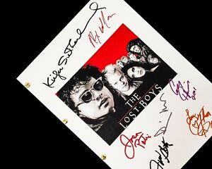 The Lost Boys TV Film Script Screenplay Signatures Autograph Jason Patric Corey