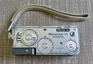 Vintage Mamiya-16 Automatic Mini Spy Camera w/Strap 25mm f2.8 Lens CLEAN, NICE