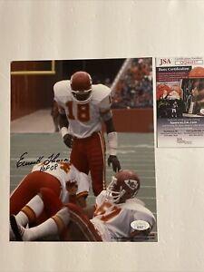 Emmitt Thomas Signed 8 x 10 Photo JSA COA Kansas City Chiefs ProLook