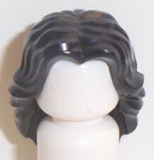 Lego Long Wavy Minifig Hair x 1 Black Minifigure Female Wig