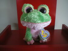 Ty Beanie Boos KIWI the frog 6  inch NWMT. VERY RARE. RETIRED AND HARD TO FIND.