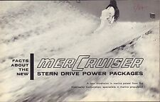 MerCruiser Stern Drive Power Packages 1964 Boat Engine Brochure 091416DBL2
