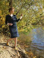 Kostüm Jacke Rock handmade 60s True Vintage two piece skirt jacket handcraft