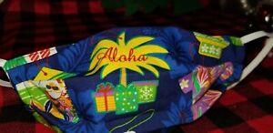Fabulous Face Mask Christmas Hawaii RARE Mele Kalikimaka Hawaiian Shirts Santa