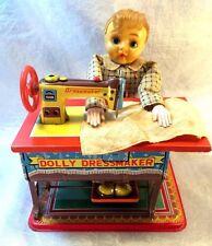 Vintage 1950's Dolly Dressmaker Tin Litho Mechanical Toy  Japan