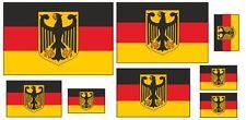 Kfz-Aufkleber Flagge Deutschland/Wappen Set RA