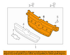Chevrolet GM OEM 07-11 Aveo Front Bumper Grille Grill-Housing 96648621
