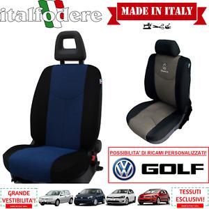 COPPIA COPRISEDILI Specifici Volkswagen GOLF Foderine ANTERIORI GOLF Azzurro 10