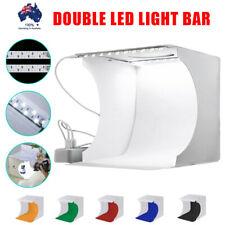 Double Mini LED Portable Photo Studio Photography Light Tent Backdrop Cube Box