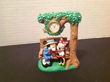 Vintage Disney Mickey & Minnie Mouse Collectible Clock Figurine