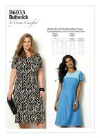 Butterick Easy SEWING PATTERN B6033 Misses/Womens Fitted Dress