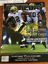 Marques Colston Signed New Orleans Saints Game Program Autographed