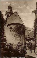 Hildesheim Niedersachsen s/w AK 1926 1000 jähriger Rosenstock Friedhof Mariendom