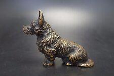 VTG Cold Paint Black Bronze SCOTTISH TERRIER Dog Metal