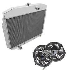 1961,1962,1963,1964 Ford F SeriesTruck Radaitor & Fans,Champion Aluminum 4 Row