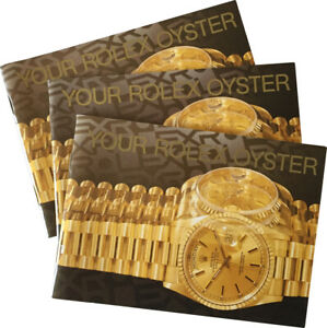 Your Rolex Oyster Watch Instructions Booklet Manual 1995 1998 1999 English -Pick