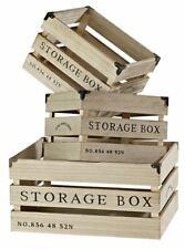 Lot de 3 Caisses de Rangement - Storage Box -  Marron naturel - Atmosphera  -