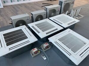MITSUBISHI AIR CONDITIONER COMMERCIAL CEILING system con CASSETTES CONDITIONING