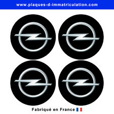 sticker Opel noir pour cache moyeu de jante (lot de 4)