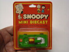 Snoopy Mini Diecast Woodstock in Green Racer Aviva Toy Co Made Hong Kong on Card