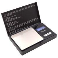 Feinwaage 300g/0,01g Waage für Gold Schmuck Münzen schwarz mit Batterien