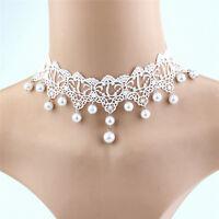 Reizvolle Spitze-Perlen-Halskette kreativer romantischer Schmucksache-Zusa G3D
