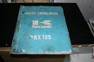 Kawasaki parts catalogue for KX125 VMX motorcycles.