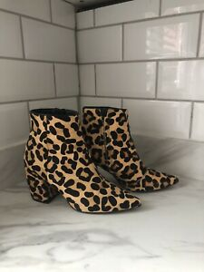 ASOS Leopard Pony Hair Western Boots