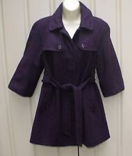 GAP purple wool blend mini coat size S