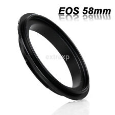 58MM Thread Lens / Macro Reverse Ring Camera Mount Adapter for Canon EOS mount