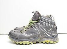 Saucony Adventerra Signature Gor-Tex Hiking Camping Terrain Wolf Grey Neon 5.5