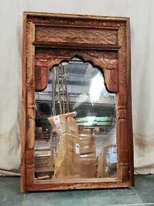 MADE TO ORDER Mehrab Indian Carved Mirror Jharokha Wooden Arch Wall Decor 1.2m