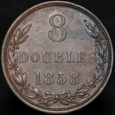 More details for 1858 | guernsey 8 doubles | copper | coins | km coins