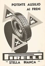W9524 Stella Bianca PIRELLI - Pubblicità del 1938 - Old advertising