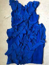 Marchesa Notte Blue Ruffle Dress Size 4