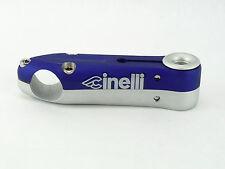 Cinelli Sesamo Stem 100mm blue silver 26. Vintage Track Bike threadless New NOS