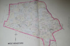 MAP of WEST BRADFORD CHESTER CO PA 1883 BREOUS FARM ATLAS