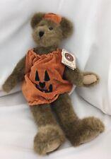 """Boyds Bear Jack O Lantern 12"""" Tall Halloween Pumpkin Style # 919631 w/ Tag"""