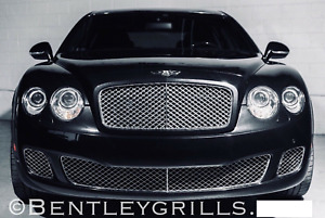 Bentley Flying Spur Speed Chrome Grills 3 Piece Trim Set Bentley Grill W12