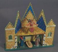 Grulich Krippengebäude, Stall mit Jesus, Maria, Josef, Engel   (# 11455)