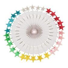30pcs Dressmaking Pins Head Pins Wheel for Sewing Hijab Scarf Star Shaped