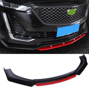 For Cadillac CT4 CT5 CTS Front Bumper Lip Body Kit Spoiler Splitter Carbon Fiber
