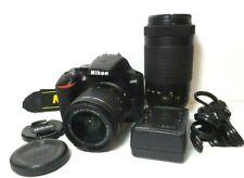 Nikon D3500 24.2MP DSLR Camera & 2 Lenses. Shutter Count 1234  Excellent Plus !
