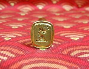Antique 19th Century Dragon Crest Nobility Wax Seal Stamp