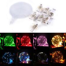 Luz LED 20 en globo transparente globo boda fiesta de cumpleaños luz decoración