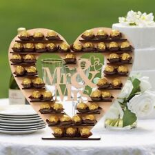 Wedding Wooden Ornaments Mr&Mrs Chocolate Stand Display Candy Cupcake Desserts