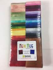 "NEW HUE Jelly Roll / Strip-pies (40) 2.5"" x 42"" STRIPS Cotton quilting Fabric"