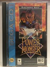 PowerMonger (Sega CD, 1994) Complete Cib TESTED & WORKS power monger