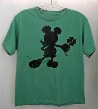 Mickey Mouse Shamrock Green/Black Short Sleeve T-Shirt - Youth Size Large